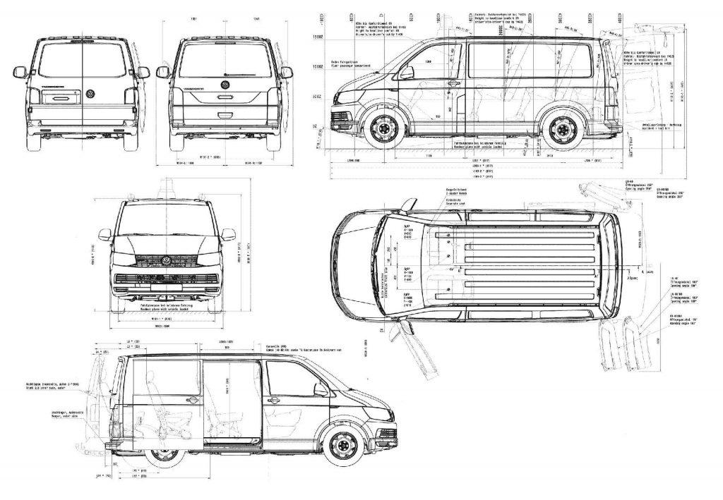 Volkswagen Caravelle T6 wymiary